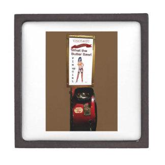 Vintage arcade machine pinup girl gift box