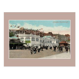 Vintage Arcadia lunapark boardwalk Scarborough Postcard