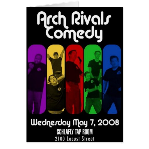 Vintage Arch Rivals Comedy Schwag Greeting Card