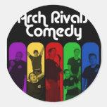 Vintage Arch Rivals Comedy Schwag Round Stickers