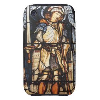 Vintage Archangel, Saint Michael by Burne Jones Tough iPhone 3 Covers