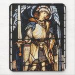 Vintage Archangel, Saint Michael by Burne Jones Mousepad