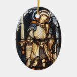 Vintage Archangel, Saint Michael by Burne Jones Ornament