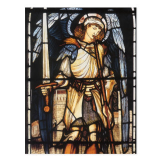 Vintage Archangel, Saint Michael by Burne Jones Post Card