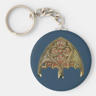 Vintage Architectural Element, Decorative Arches Basic Round Button Keychain