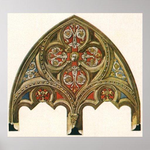 Vintage Architectural Element, Decorative Arches Poster