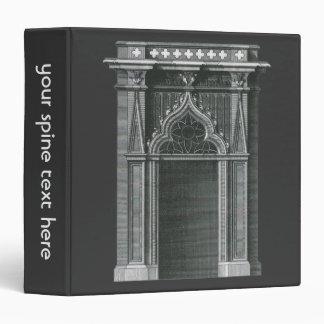 Vintage Architectural Element, Gothic Doorway Vinyl Binders