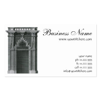 Vintage Architectural Element, Gothic Doorway Double-Sided Standard Business Cards (Pack Of 100)