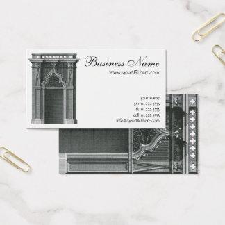Vintage Architectural Element, Gothic Doorway Business Card