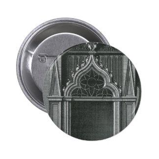 Vintage Architectural Element, Gothic Doorway Button