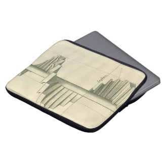 Vintage Architectural Stairs, Spiral Staircase Laptop Sleeve