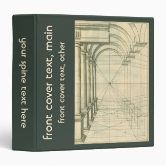 Vintage Architecture, Arches Columns Perspective 3 Ring Binder