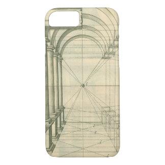 Vintage Architecture, Arches Columns Perspective iPhone 8/7 Case