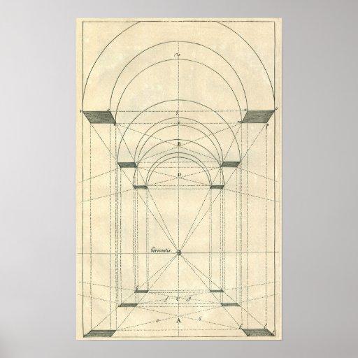 Vintage Architecture, Arches Perspecitve Posters