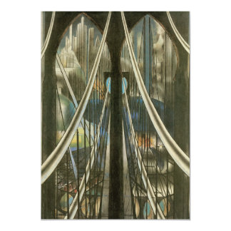 Vintage Architecture, Brooklyn Bridge Retirement Card