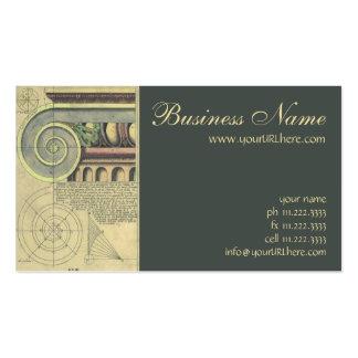 Vintage Architecture; Capital Volute by Vignola Business Card