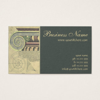 Vintage Architecture; Capital Volute by Vignola Business Card