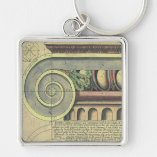 Vintage Architecture; Capital Volute by Vignola Key Chain