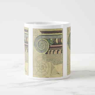 Vintage Architecture; Capital Volute by Vignola 20 Oz Large Ceramic Coffee Mug