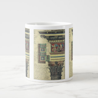Vintage Architecture, Column with Cornice Moulding Giant Coffee Mug