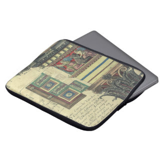 Vintage Architecture, Column with Cornice Moulding Laptop Sleeves