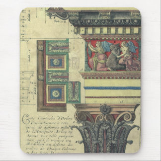 Vintage Architecture, Column with Cornice Moulding Mouse Pad