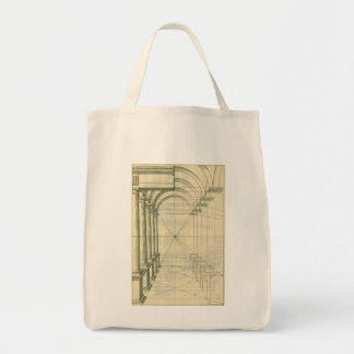 Vintage Architecture, Columns Arches Perspective Tote Bag