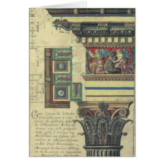 Vintage Architecture, Cornice Moulding and Column Greeting Card