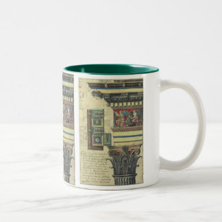 Vintage Architecture, Cornice Moulding and Column Two-Tone Coffee Mug
