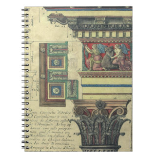 Vintage Architecture, Cornice Moulding and Column Spiral Note Books