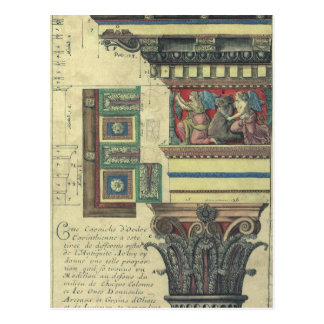 Vintage Architecture, Cornice Moulding and Column Postcard