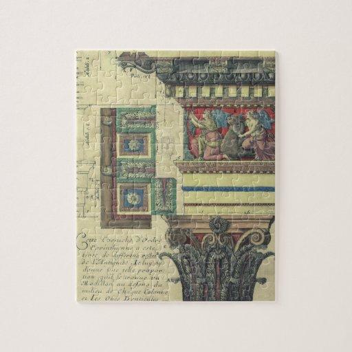 Vintage Architecture, Cornice Moulding and Column Puzzle