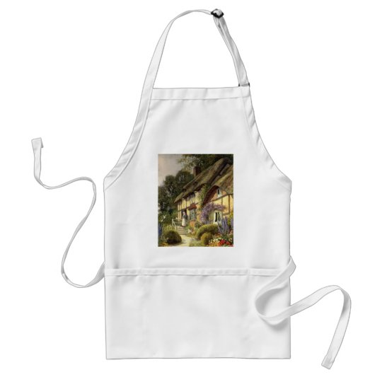 Vintage Architecture, Country Cottage House Adult Apron