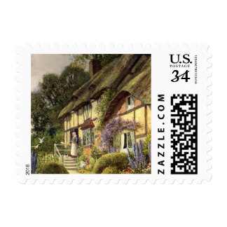 Vintage Architecture, Country Cottage House Postage