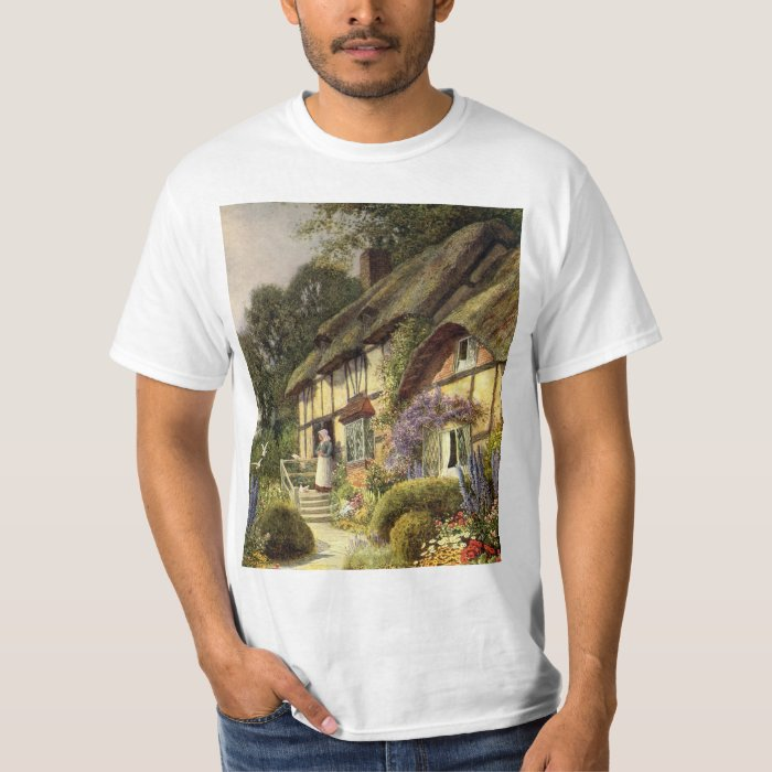 Vintage Architecture, Country Cottage House T-Shirt
