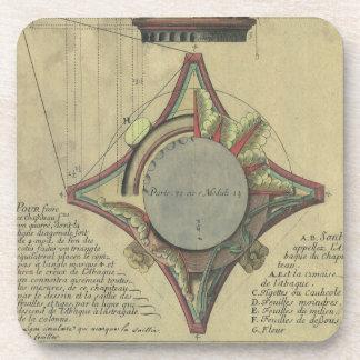Vintage Architecture, Decorative Capital Crown Coaster