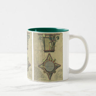 Vintage Architecture, Decorative Capital Crown Two-Tone Coffee Mug