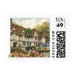 Vintage Architecture English Cottage Formal Garden Postage Stamp