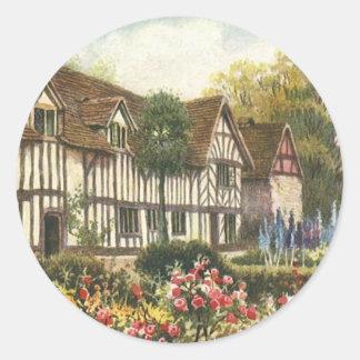 Vintage Architecture English Cottage Formal Garden Stickers