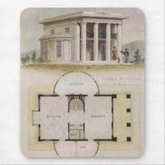 Vintage Architecture, Floor Plan and Greek Villa Mouse Pad