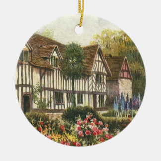 Vintage Architecture Formal Garden English Cottage Ceramic Ornament