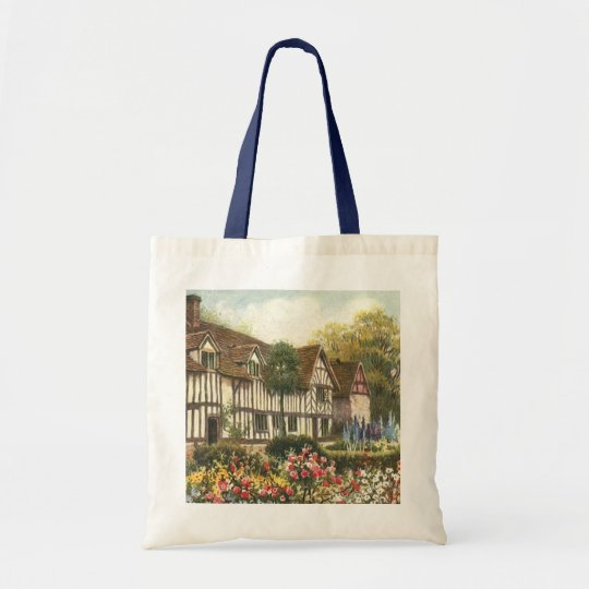 Vintage Architecture Formal Garden English Cottage Tote Bag