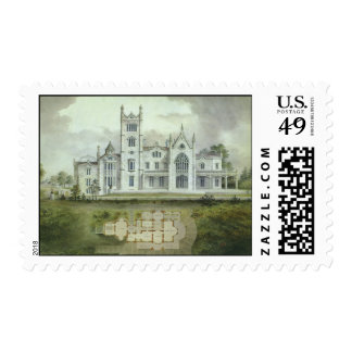 Vintage Architecture, French Chateau Floor Plans Postage