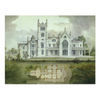 Vintage Architecture, French Chateau Floor Plans Post Card