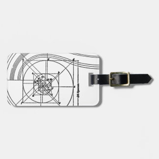 Vintage architecture luggage tag