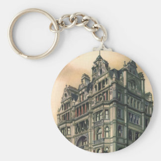 Vintage Architecture Queens Hotel Leicester Square Keychain