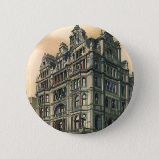 Vintage Architecture Queens Hotel Leicester Square Pinback Button