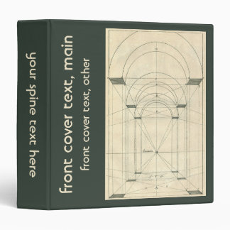 Blueprint custom binders zazzle vintage architecture renaissance arch perspective 3 ring binder malvernweather Image collections