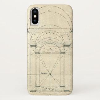 Vintage Architecture, Renaissance Arch Perspective iPhone X Case