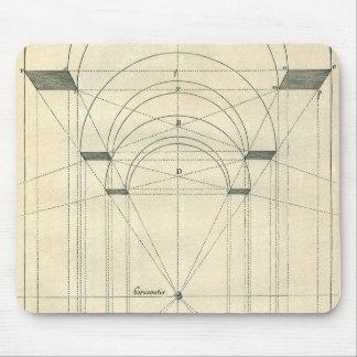 Vintage Architecture, Renaissance Arch Perspective Mouse Pad
